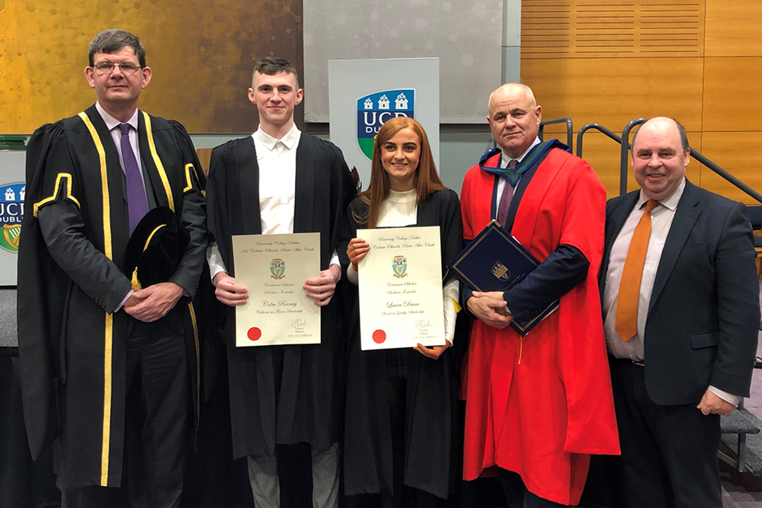 Former Coláiste Oiriall students receive UCD Entrance Awards